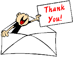Envelope Character with Thank You Note