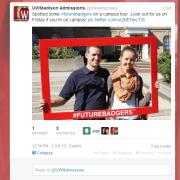 #FutureBadgers imprinted on Oversize Frame