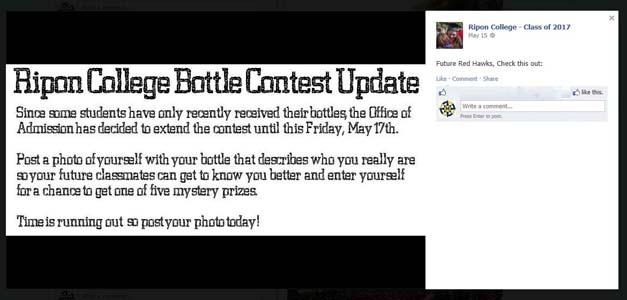 ripon college FB contest