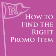 Find the right promo item